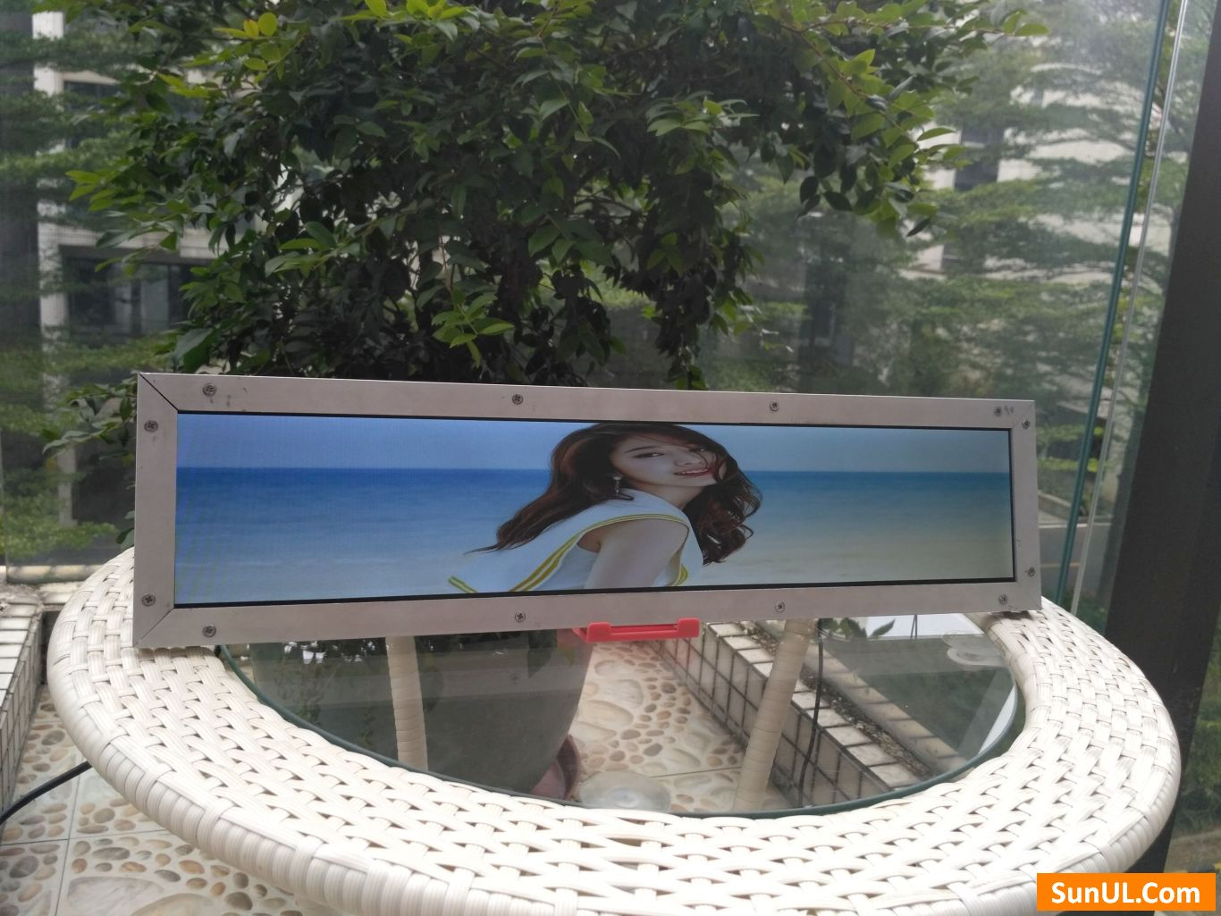 24.5 inch stretched LCD display